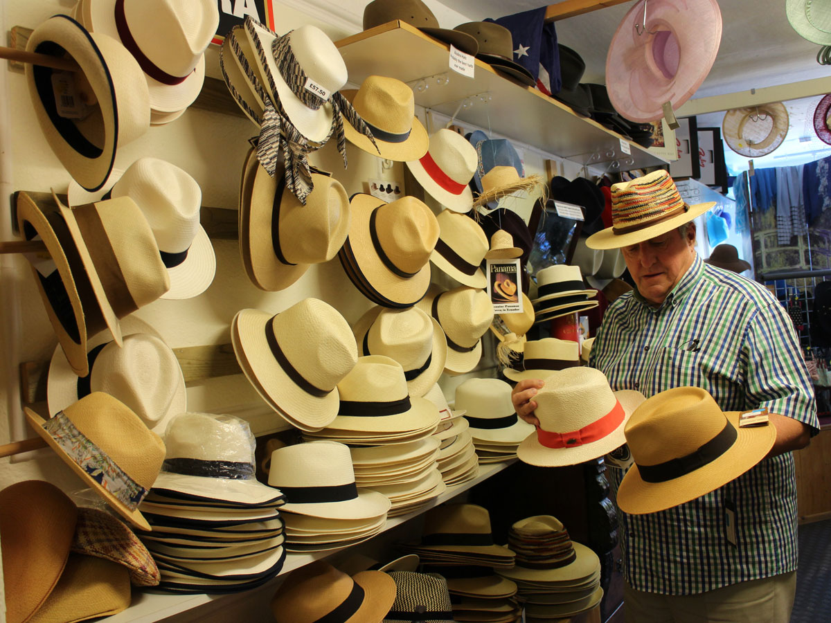 Range of Panama hats